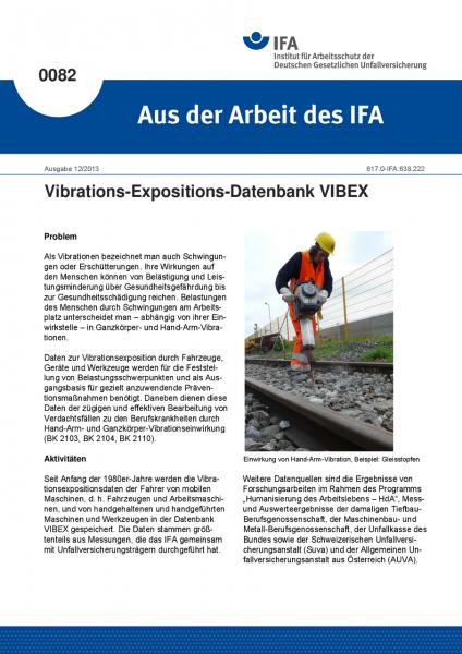 Vibrations-Expositions-Datenbank VIBEX. Aus der Arbeit des IFA Nr. 0082
