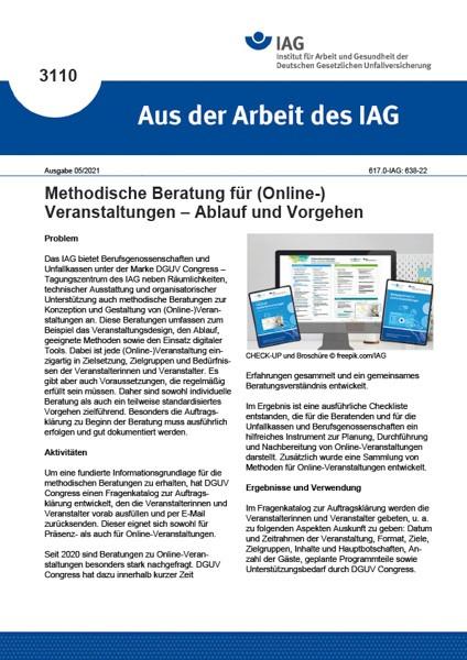 Methodische Beratung für (Online-) Veranstaltungen – Ablauf und Vorgehen (Aus der Arbeit des IAG 310