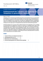 """FBHL-005 """"Kohlenmonoxid bei Transport und Lagerung von Holzpellets im gewerblichen Gebrauch"""""""