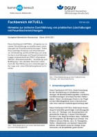 """FBFHB-026 """"Hinweise zur sicheren Durchführung von praktischen Löschübungen mit Feuerlöscheinrichtungen"""""""