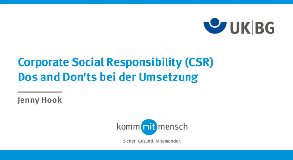 Corporate Social Responsibility (CSR) - Dos and Don'ts bei der Umsetzung