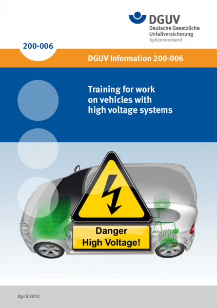 Training for work on vehicles with high voltage systems