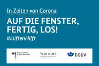 "Grafik #LüftenHilft ""AUF DIE FENSTER, FERTIG, LOS"""