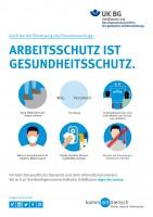 Arbeitsschutz ist Gesundheitsschutz - Benutzung des Personenaufzugs (Plakat, DIN A3)