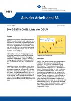 Die GESTIS-DNEL-Datenbank der DGUV (Aus der Arbeit des IFA Nr.  0353)