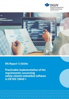 IFA Report 1/2020e: Practicable implementation of the requirements concerning safety-related embedded software to EN ISO 13849-1