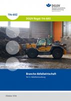 Branche Abfallwirtschaft - Teil II Abfallbehandlung
