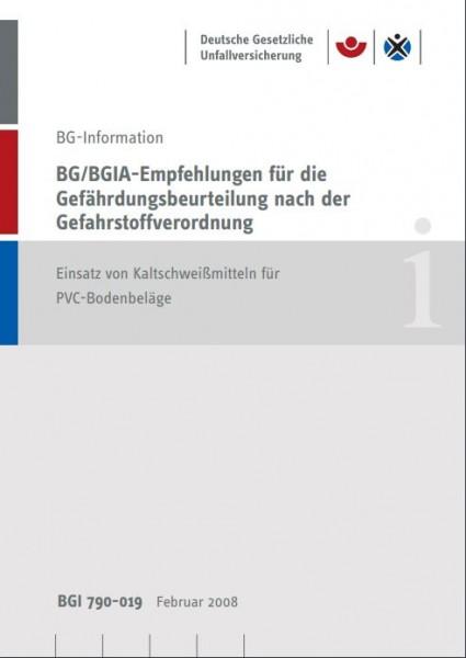 BG/BGIA-Empfehlungen für die Gefährdungsbeurteilung nach der Gefahrstoffverodnung: Einsatz von Kalts