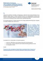 Medizinische Versorgung von im Ausland versicherten Personen in Deutschland und Kostenabrechnung - Sachleistungsaushilfe durch die deutsche gesetzliche Unfallversicherung
