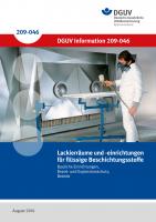 Lackierräume und -einrichtungen für flüssige Beschichtungsstoffe