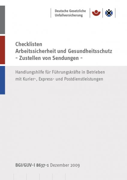 Checklisten - Arbeitssicherheit und Gesundheitsschutz - Zustellen von Sendungen