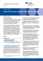 """FBVL-002 """"Maßnahmen gegen das Wegrollen von Fahrzeugen"""""""
