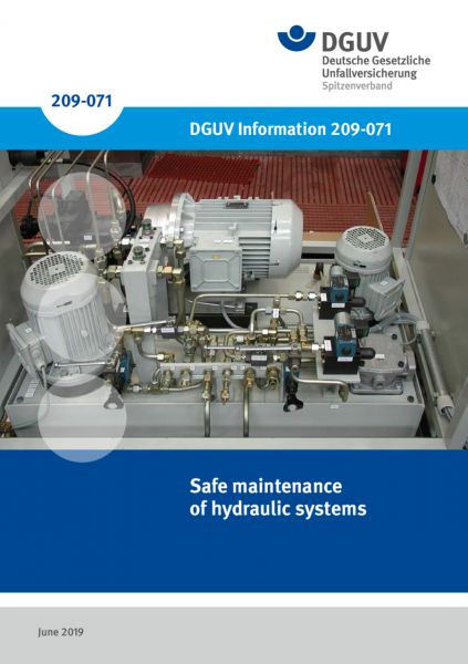 Safe maintenance of hydraulic systems