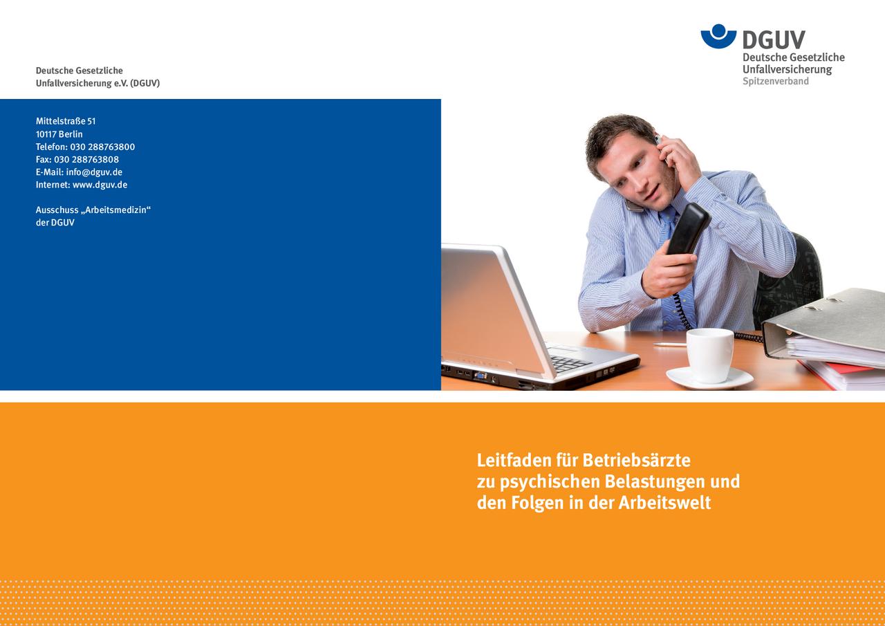 Leitfaden für Betriebsärzte zu psychischen Belastungen und ...