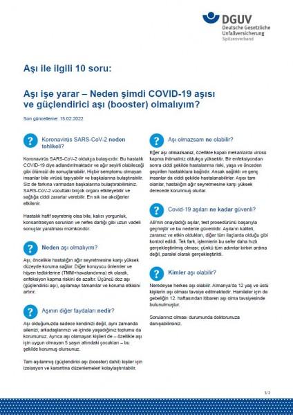 Aşı ile ilgili 10 soru: Aşı işe yarar – Neden şimdi COVID-19 aşısı olmalıyım?