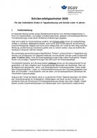 Unfallgeschehen für das Teilkollektiv Kinder in Tagesbetreuung und Schüller unter 15 Jahren 2009