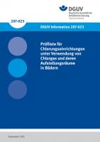 Prüfliste für Chlorungseinrichtungen unter Verwendung von Chlorgas und deren Aufstellungsräumen in Bädern