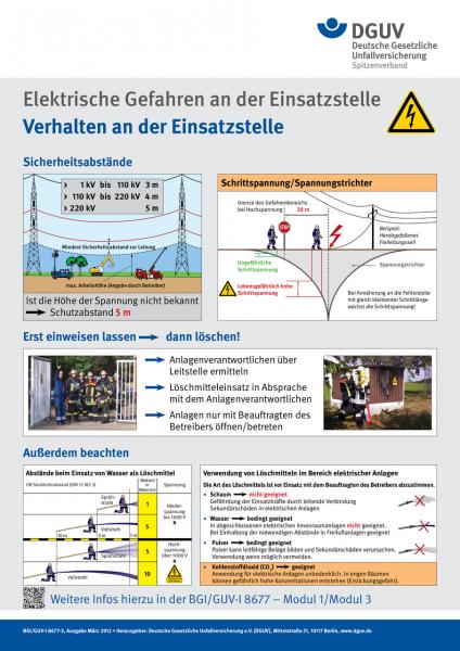 Verhalten an der Einsatzstelle (Plakat)
