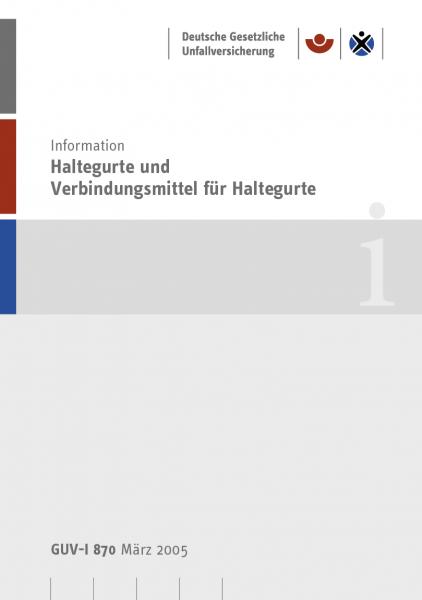 Haltegurte und Verbindungsmittel für Haltegurte