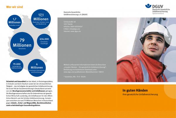 Flyer: In guten Händen - Ihre gesetzliche Unfallversicherung