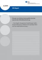 Einsatz von Kühlschmierstoffen bei der spanenden Metallbearbeitung – Vorschlag für die geplanten Empfehlungen Gefährdungsermittlung der Unfallversicherungsträger (EGU) nach der Gefahrstoffverordnung – (IFA Report 6/2015)