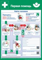 Erste Hilfe (Plakat, DIN A2, russisch) Первая помощь