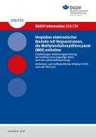 Empfehlungen Gefährdungsermittlung der Unfallversicherungsträger (EGU) nach der Gefahrstoffverordnung - Vergießen elektronischer Bauteile mit Vergussmassen, die Methylendiphenyldiisocyanat (MDI) enthalten