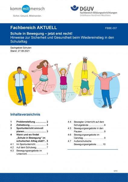 """FBBE-007 """"Schule in Bewegung - jetzt erst recht"""""""