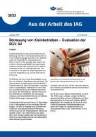 Betreuung von Kleinbetrieben - Evaluation der BGV A2. Aus der Arbeit des IAG Nr. 3032