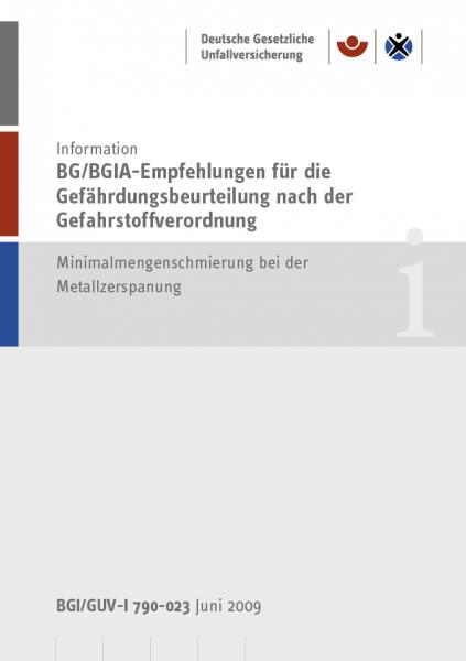 BG/BGIA-Empfehlungen für die Gefährdungsbeurteilung nach der Gefahrstoffverordnung - Minimalmengensc