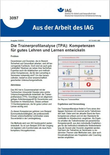 Die Trainerprofilanalyse (TPA): Kompetenzen für gutes Lehren und Lernen entwickeln (Aus der Arbeit d