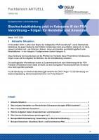 """FBPSA-008 """"Stechschutzkleidung jetzt in Kategorie III der PSA- Verordnung – Folgen für Hersteller und Anwender"""""""