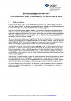 Unfallgeschehen für das Teilkollektiv Kinder in Tagesbetreuung und Schüller unter 15 Jahren 2011