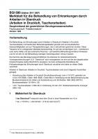 Merkblatt für die Behandlung von Erkrankungen durch Arbeiten in Überdruck (Arbeiten in Druckluft, Taucherarbeiten)