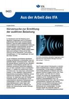 Hörversuche zur Ermittlung der auditiven Belastung