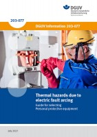 Thermal hazards from electric fault arcing