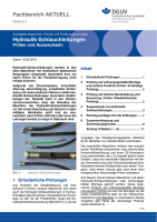 """FBHM-015 """"Hydraulik-Schlauchleitungen Prüfen und Auswechseln"""""""