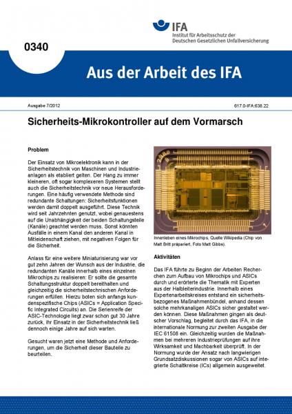 Sicherheits-Mikrokontroller auf dem Vormarsch (Aus der Arbeit des IFA Nr. 0340)
