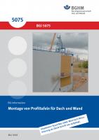 Montage von Profiltafeln für Dach und Wand