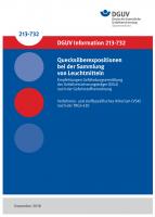 Empfehlungen Gefährdungsermittlung der Unfallversicherungsträger (EGU) nach der Gefahrstoffverordnung - Quecksilberexpositionen bei der Sammlung von Leuchtmitteln