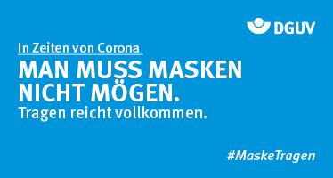 """Grafik #MaskeTragen """"MAN MUSS MASKEN NICHT MÖGEN. Tragen reicht vollkommen."""""""