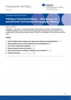 """FBHL-002 """"Fahrbare Hubarbeitsbühnen - Benutzung von persönlicher Schutzausrüstung gegen Absturz"""""""