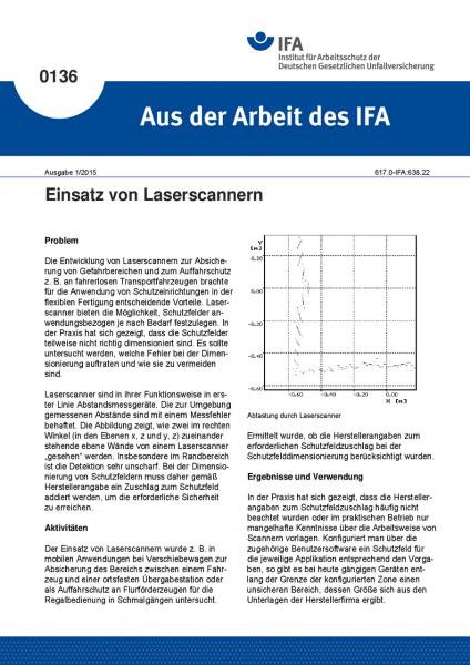 Einsatz von Laserscannern. Aus der Arbeit des IFA Nr. 0136