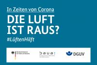 """Grafik #LüftenHilft """"DIE LUFT IST RAUS"""""""