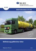 """Beförderung gefährlicher Güter (Merkblatt A 013 der Reihe """"Allgemeine Themen"""")"""