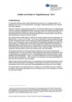 Unfallgeschehen von Kindern in Tagesbetreuung 2013