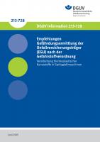 Empfehlungen Gefährdungsermittlung der Unfallversicherungsträger (EGU) nach der Gefahrstoffverordnung - Verarbeitung thermoplastischer Kunststoffe in Spritzgießmaschinen