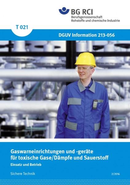 Gaswarneinrichtingen für toxische Gase/Dämpfe und Sauerstoff - Einsatz und Betrieb (Merkblatt T 021