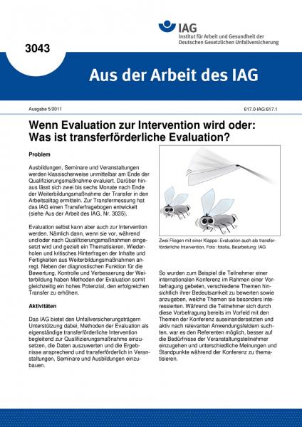 Wenn Evaluation zur Intervention wird oder: Was ist transferförderliche Evaluation? Aus der Arbeit d