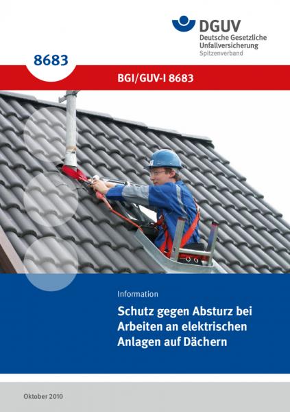 Schutz gegen Absturz bei Arbeiten an elektrischen Anlagen auf Dächern